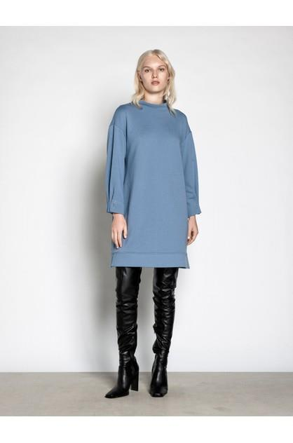 Image of Veronika Maine Women's Cotton Terry Bar Cuff Sweater Dress