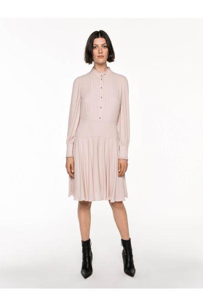 Image of Veronika Maine Women's Soft Georgette Tucked Front Dress