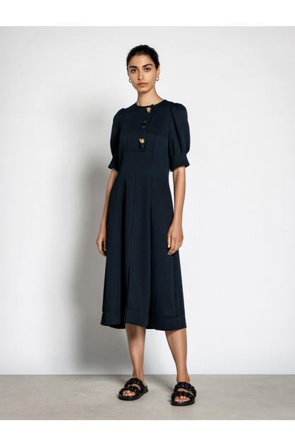 Image of Veronika Maine Women's Textured Dobby Button Dress