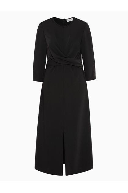 Image of Veronika Maine Women's Smooth Twill Wrap Detail Dress