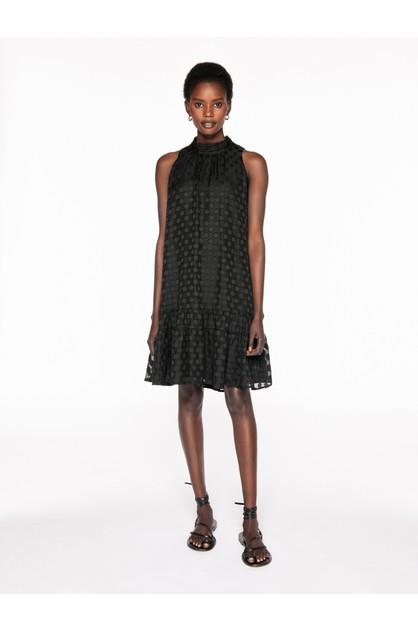 Image of Veronika Maine Women's Sheer Spot Tiered Dress
