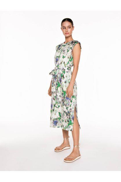 Image of Veronika Maine Women's Blurred Floral Tie Waist Dress