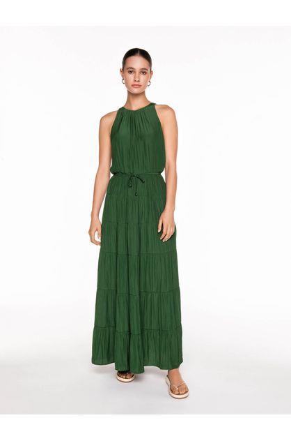 Image of Veronika Maine Women's Japanese Satin Tiered Dress