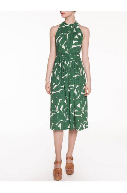 Image of Veronika Maine Women's Linear Leaf Midi Dress