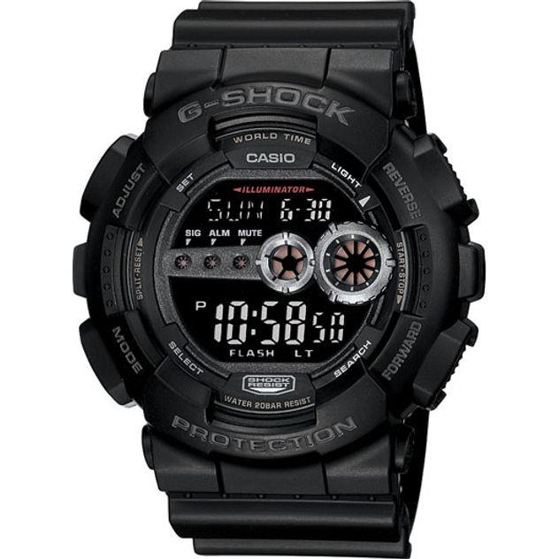 Image of G-Shock Casio Digital Mens Black X-Large Watch GD-100-1B GD-100-1BDR
