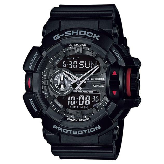 Image of G-Shock Casio Analogue/Digital Mens Black Rotary Switch Series Watch GA-400-1B