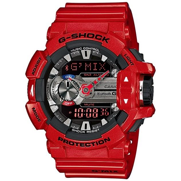 Image of G-Shock Casio G'MIX Bluetooth Analogue/Digital Mens Red Watch GBA-400-4ADR