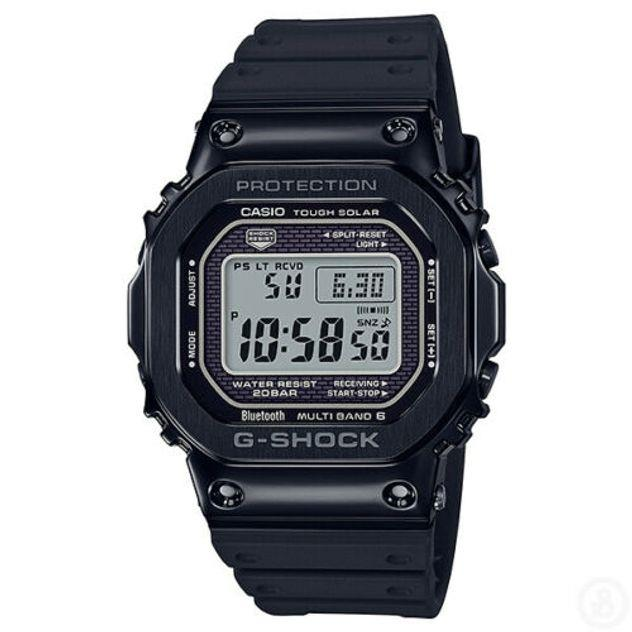 Image of G-Shock Men's Casio Full Metal Resin Band Bluetooth Digital Black Watch GMWB5000G-1 GMW-B5000G-1DR