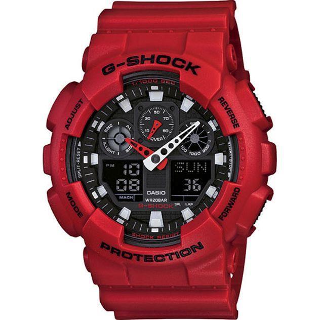 Image of G-Shock Casio Analogue/Digital Mens XL Series Red Watch GA-100B-4A