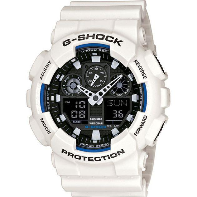 Image of G-Shock Casio Analogue/Digital Mens White XL-Series Watch GA-100B-7A