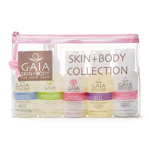 Image of Gaiam 5 X 50ml Pure/Natural/Organic Skin and Body Collection Kit Women/Ladies