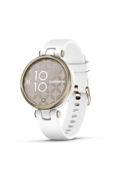 Image of Garmin Lily Sport Edition, Cream Gold Bezel with White Case and Silicone Band