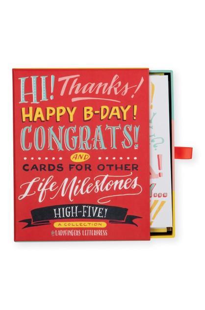 Image of Galison Assorted Greeting Cards Ladyfingers Letterpress