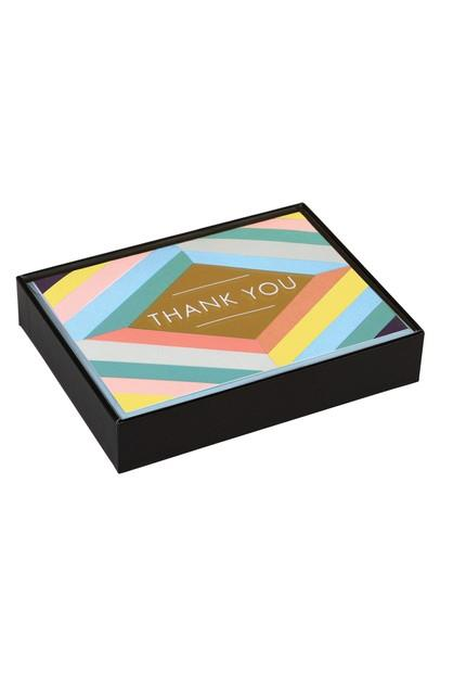 Image of Galison Lux Thank You Note Cards Geometric Pastel
