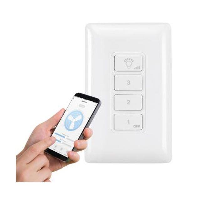 Image of 1-day Brilliant Smart Ceiling Fan Remote Smart WiFi AC