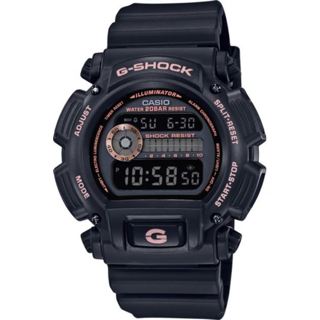 Image of G-Shock Men's SPECIAL COLOR BLACK/ROSE GOLD DIGITAL WATCH DW9052GBX-1A4