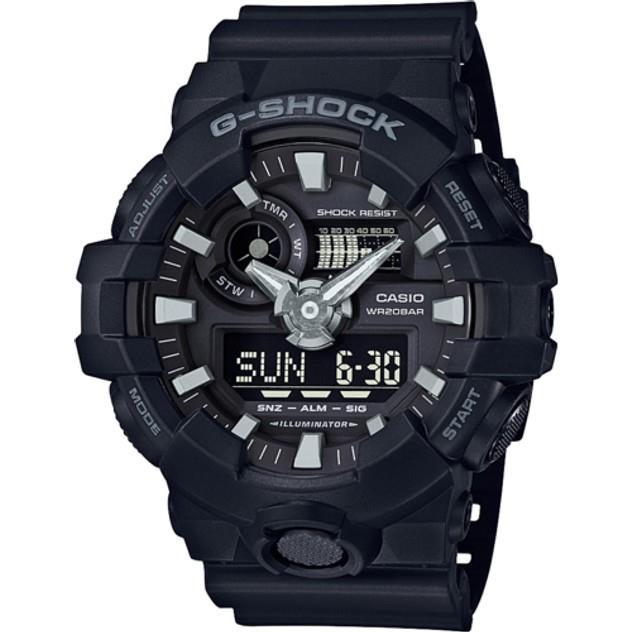 Image of G-Shock Men's GA700-1B ANALOGUE-DIGITAL WATCH BLACK