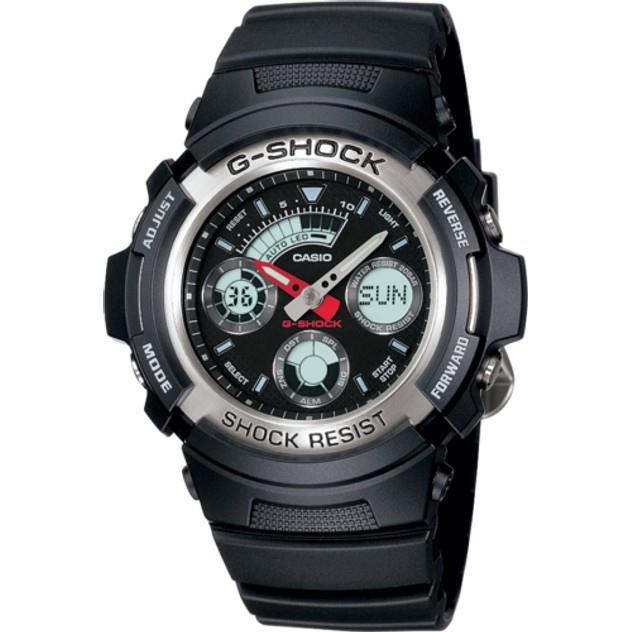Image of G-Shock NEOBRITE ANALOGUE/DIGITAL MENS BLACK WATCH AW-590-1A