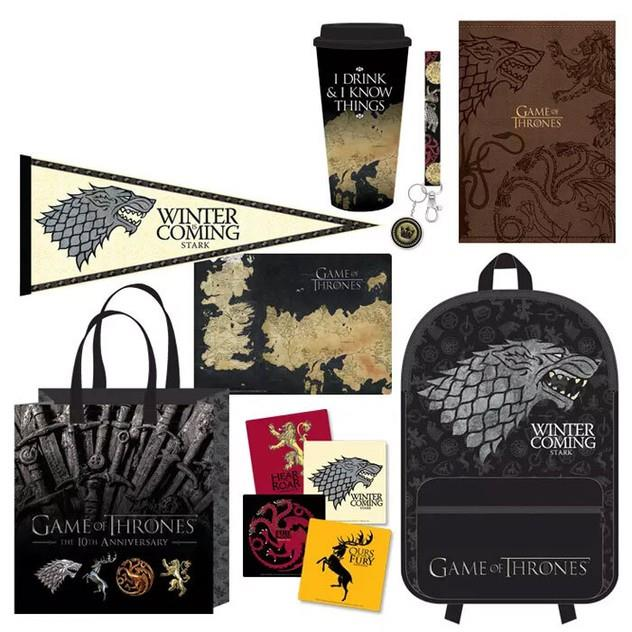 Image of Game of Thrones Men's Showbag w/ Backpack/Notebook/Banner/Coasters/Lanyard/Mousepad