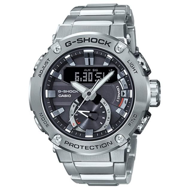 Image of G-Shock Men's GSTB200D-1A G-STEEL CARBON STAINLESS STEEL