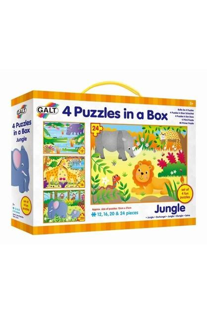 Image of Galt 4 Puzzles in a Box Jungle