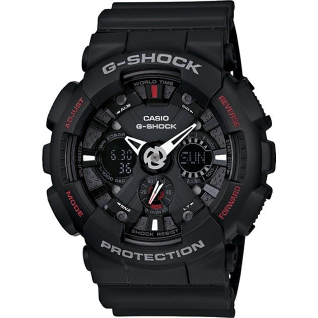 Image of G-Shock CASIO ANALOGUE/DIGITAL MENS BLACK MOTORCYCLE SPORTS WATCH GA-120