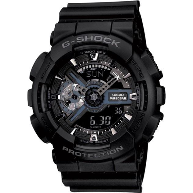 Image of G-Shock Men's CASIO GA110-1B ANALOGUE-DIGITAL WATCH BLACK