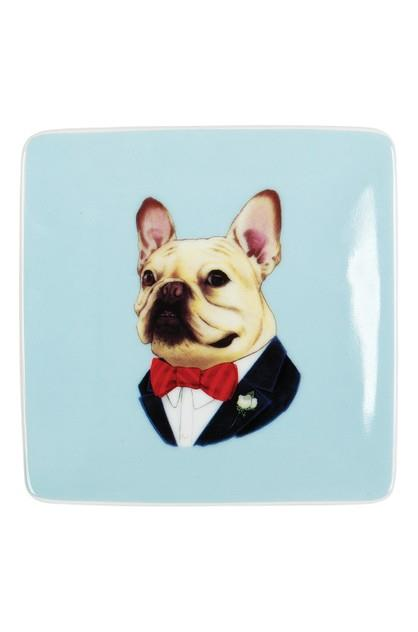 Image of Galison Small Porcelain Tray Berkley Bestiary [Frenchie]
