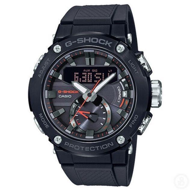 Image of G-Shock Men's Casio G-Steel Solar Carbon Bluetooth Analogue/Digital Watch GST-B200B-1A