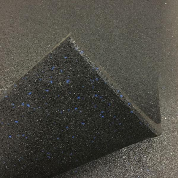 10 x Commercial Rubber Gym Flooring Black with Blue fleck (Package)