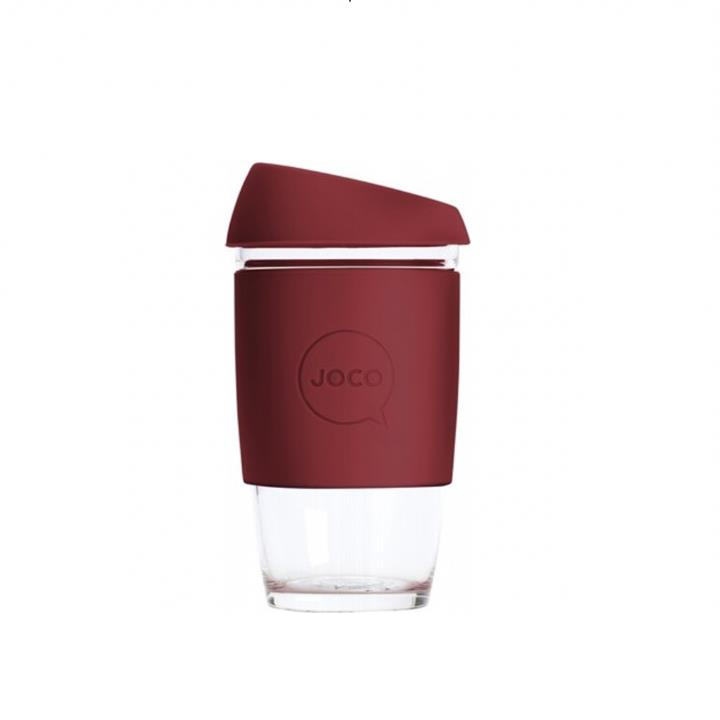 JOCO - Reusable Glass Cup - Ruby Wine (Extra Small 6oz)