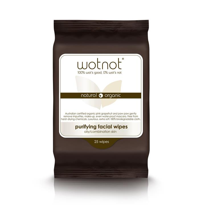Wotnot - Purifying Facial Wipes - Oily/Combination Skin (25 pack)