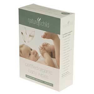 Natures Child - Organic Cotton Baby Wipes (8 pack)
