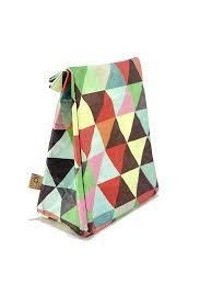 ioCo. Old School Lunch Bag - Coloured Triangles
