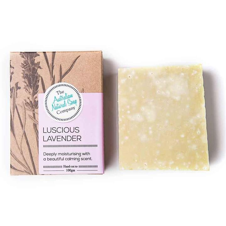 The Australian Natural Soap Company - Luscious Lavender Solid Soap 100g