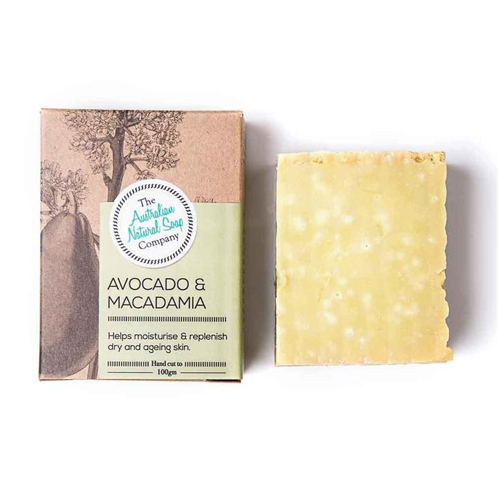 The Australian Natural Soap Company - Avocado and Macadmia Solid Soap 100g