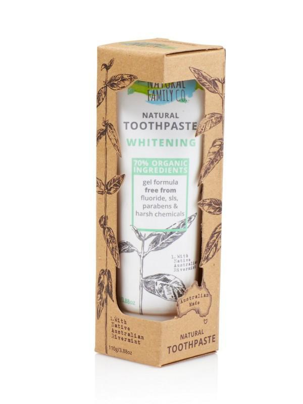 The Natural Family Co. - Natural Toothpaste - Whitening 110g