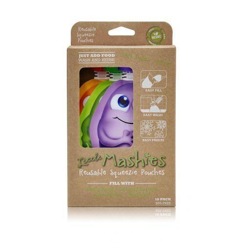 Little Mashies - Reusable Food Pouches - Assorted 10 Pack (130ml)