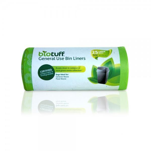 Biotuff - Biodegradable and Compostable Bin Liners - Large (60L)