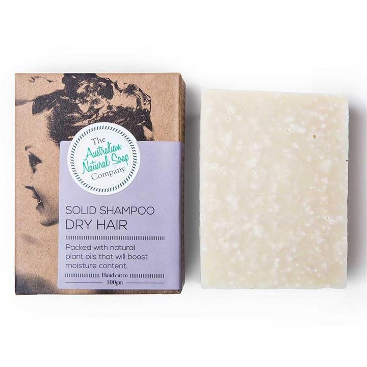 The Australian Natural Soap Company - Solid Shampoo for Dry Hair 100g