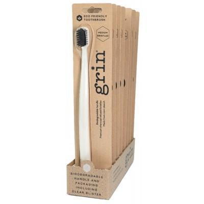 Grin - Biodegradable Medium Toothbrush - Ivory