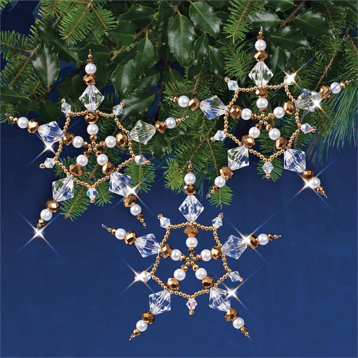 Image of Golden Crystal Stars 10 cm Makes 3