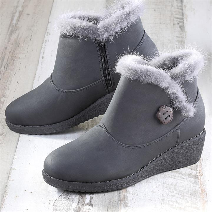 Image of Warm Lined Ankle Boots