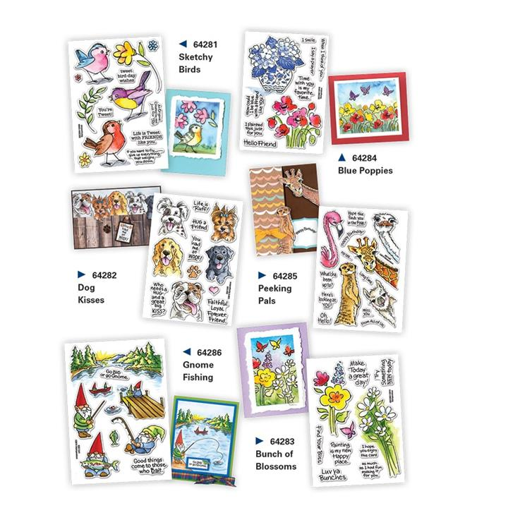 Image of Perfectly Clear Stamp Set - Bunch Of Blossoms