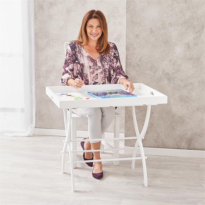 Image of Craft Tray & Collapsible Stand - Craft & Hobbies