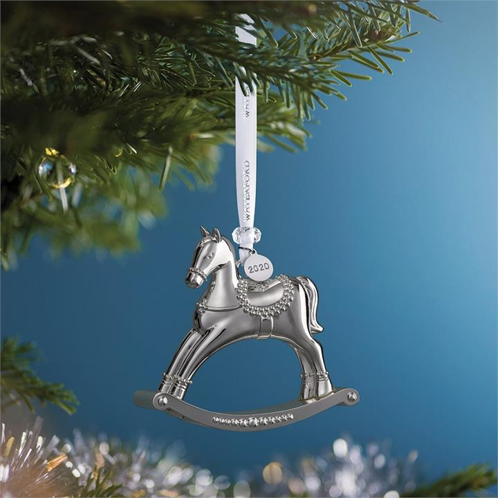 Image of Waterford Silver Christmas Ornaments