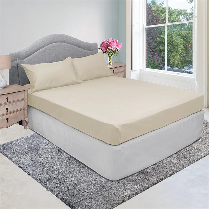 Image of 1000TC Cotton Rich Fitted Combo Set