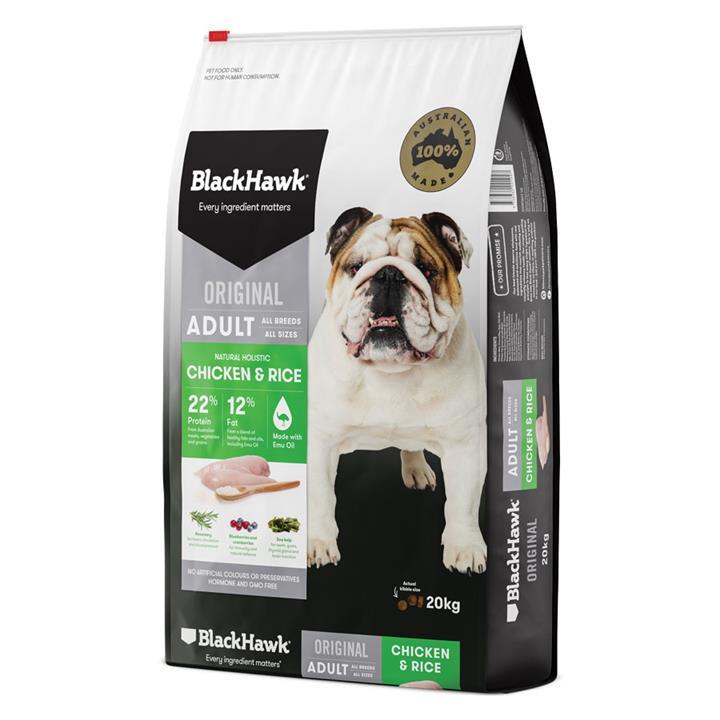 Image of Black Hawk Dog Adult Chicken & Rice 3kg