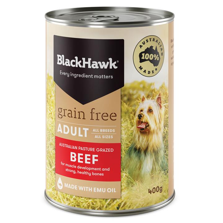 Image of Black Hawk Adult Grain Free Beef Canned 400g x 12
