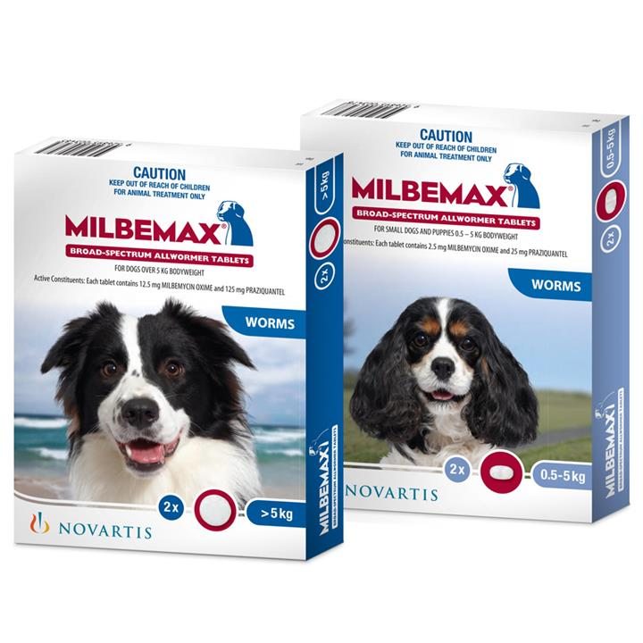 Image of Milbemax All Wormer for Dogs 0.5-5kg 2 Pack